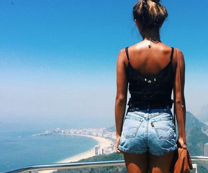 girl, summer, and view image
