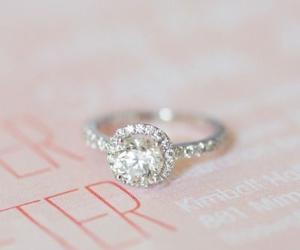 couple, diamonds, and engagment image