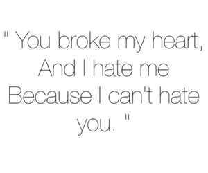 hate, love, and quote image