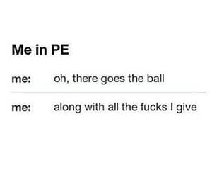 funny, pe, and ball image