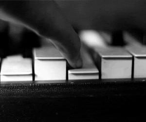piano, music, and gif image