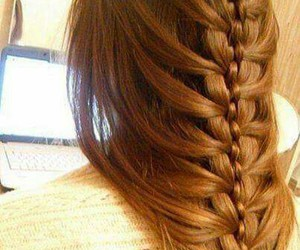 braided, hairstyle, and long image