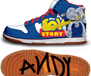toy story, shoes, and andy image