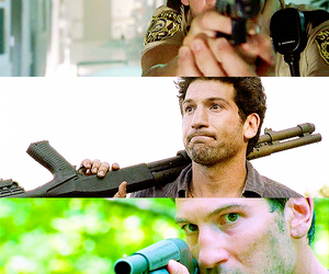 guns, the walking dead, and twd image