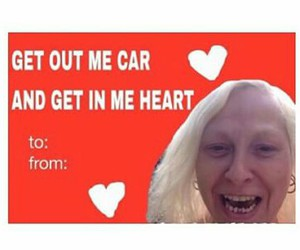 cards, funny, and valentines day image