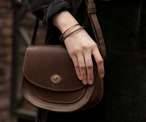 bags, dark, and dress image