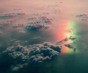 sky, 3d, and clouds image