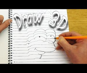 drawing, 3d drawing, and 3d image