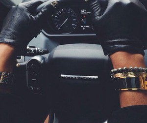car, chanel, and black image