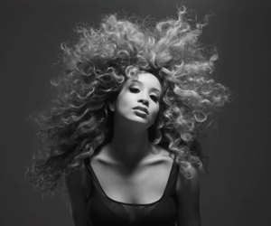 Afro, black and white, and fashion image