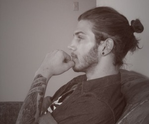 boy, tattoo, and hair image