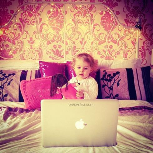 pc, baby, and cute image