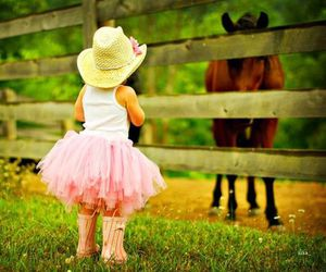 girl, horse, and Cowgirl image