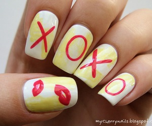 kiss, manicure, and nails image