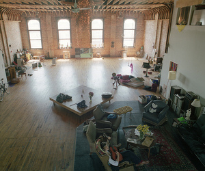 apartment, loft, and room image