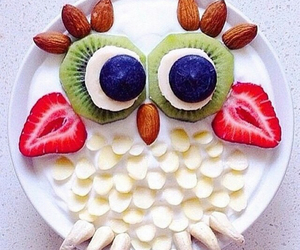 owl, food, and strawberry image