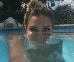 girl, eyes, and summer image