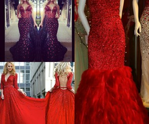 dresses, red, and love_it image