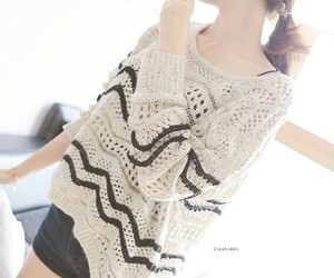 fashion, girl, and sweater image