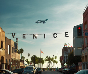 venice, travel, and plane image
