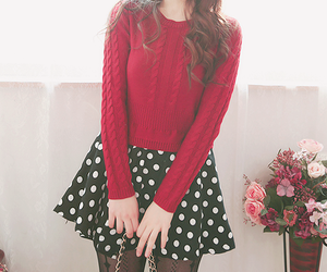 kfashion, outfit, and red image