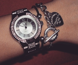 bling, watch, and cute image