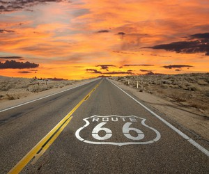 route 66, sunset, and america image