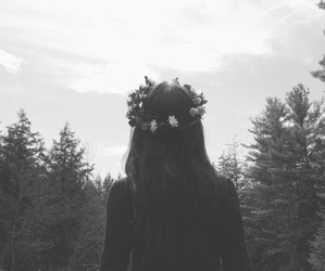 girl, flowers, and indie image