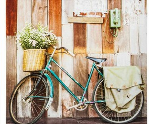 bicycle, vintage, and romantic image
