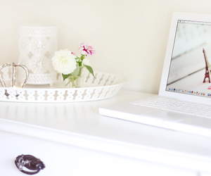 flower, inspiration, and laptop image