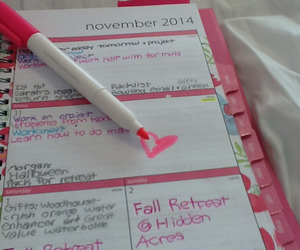 girly, organization, and planner image