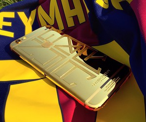 gold, neymar, and iphone image