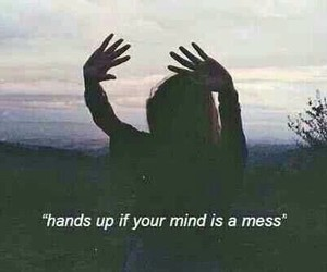 alone, grunge, and hands up image