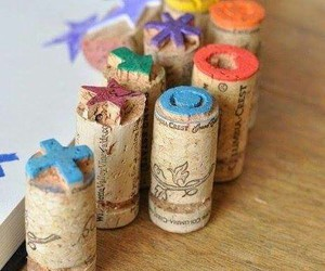 cork, diy, and stamp image