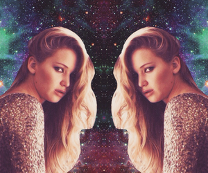 Collage, galaxy, and Jennifer Lawrence image