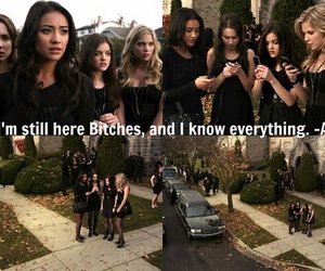 pretty little liars, a, and pll image