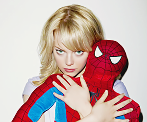 emma stone, spiderman, and spider man image