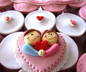 couple, red heart, and sweet image