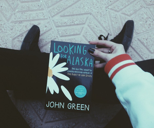 black, john green, and book image