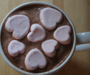 chocolate, marshmallow, and heart image