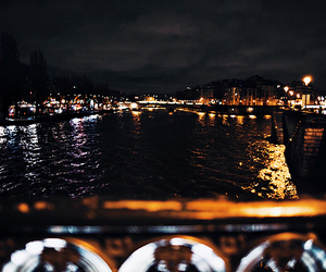 city, france, and night image