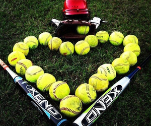 heart, softball, and xeno image