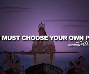 quote, disney, and pocahontas image