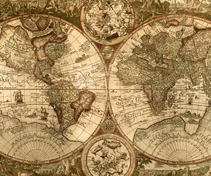 map, world, and old image