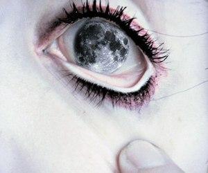 moon, eye, and eyes image