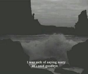 goodbye, sorry, and sad image