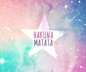 hakuna matata, stars, and galaxy image