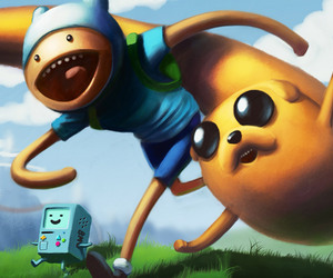 finn, JAKe, and bmo image