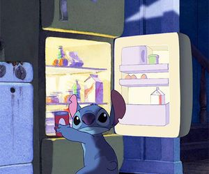 stitch, food, and funny image