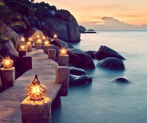 light and sea image